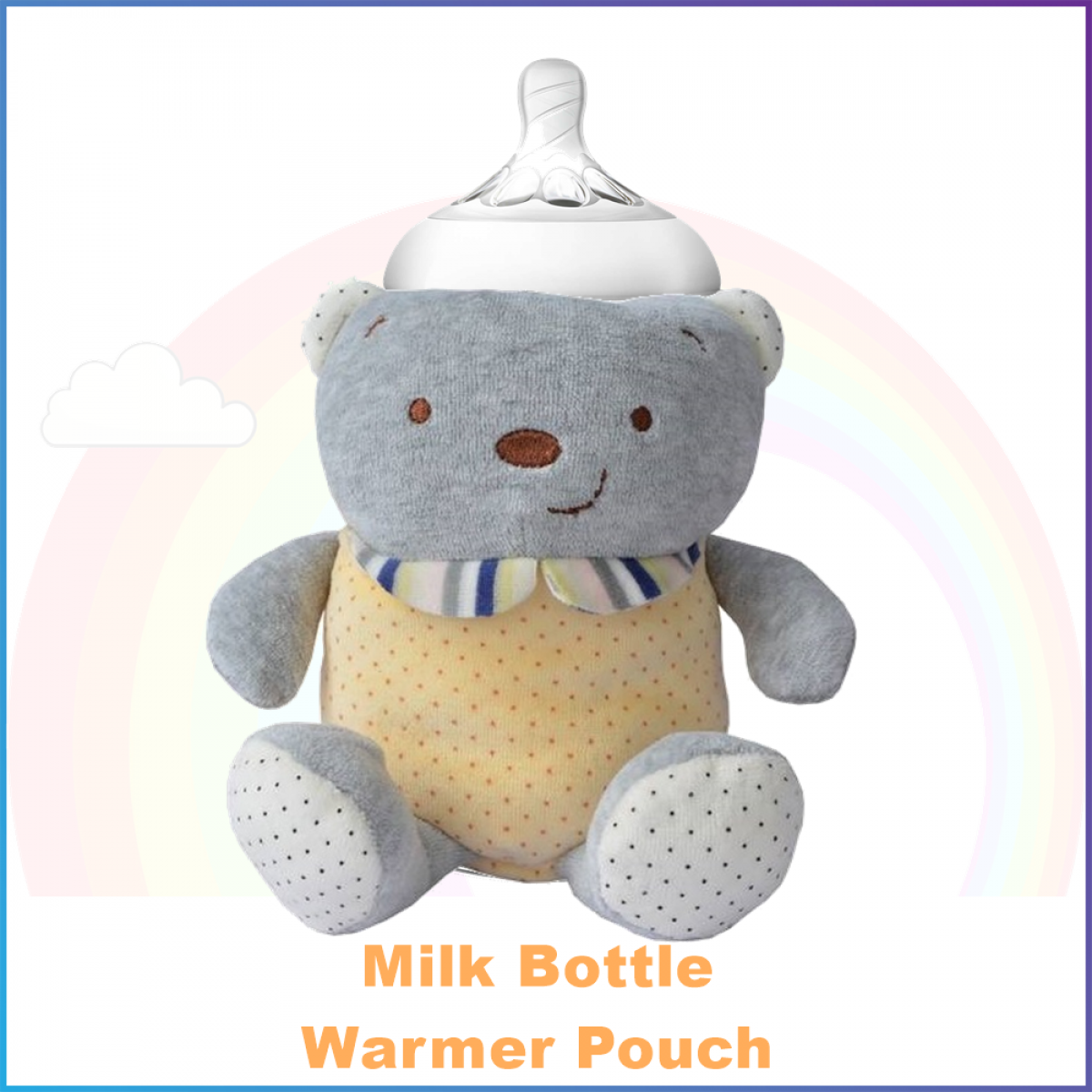 Warmer Pouch for Milk Bottle - Yellow Polka Bear