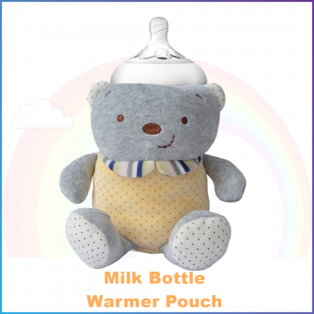 Warmer Pouch for Milk Bottle - Yellow Polka Bear
