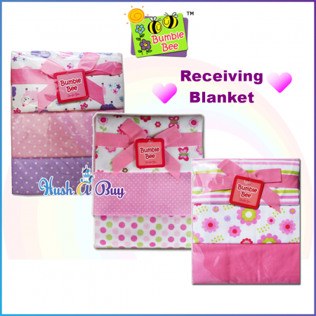 Bumble Bee Cotton Flannel Receiving Blankets