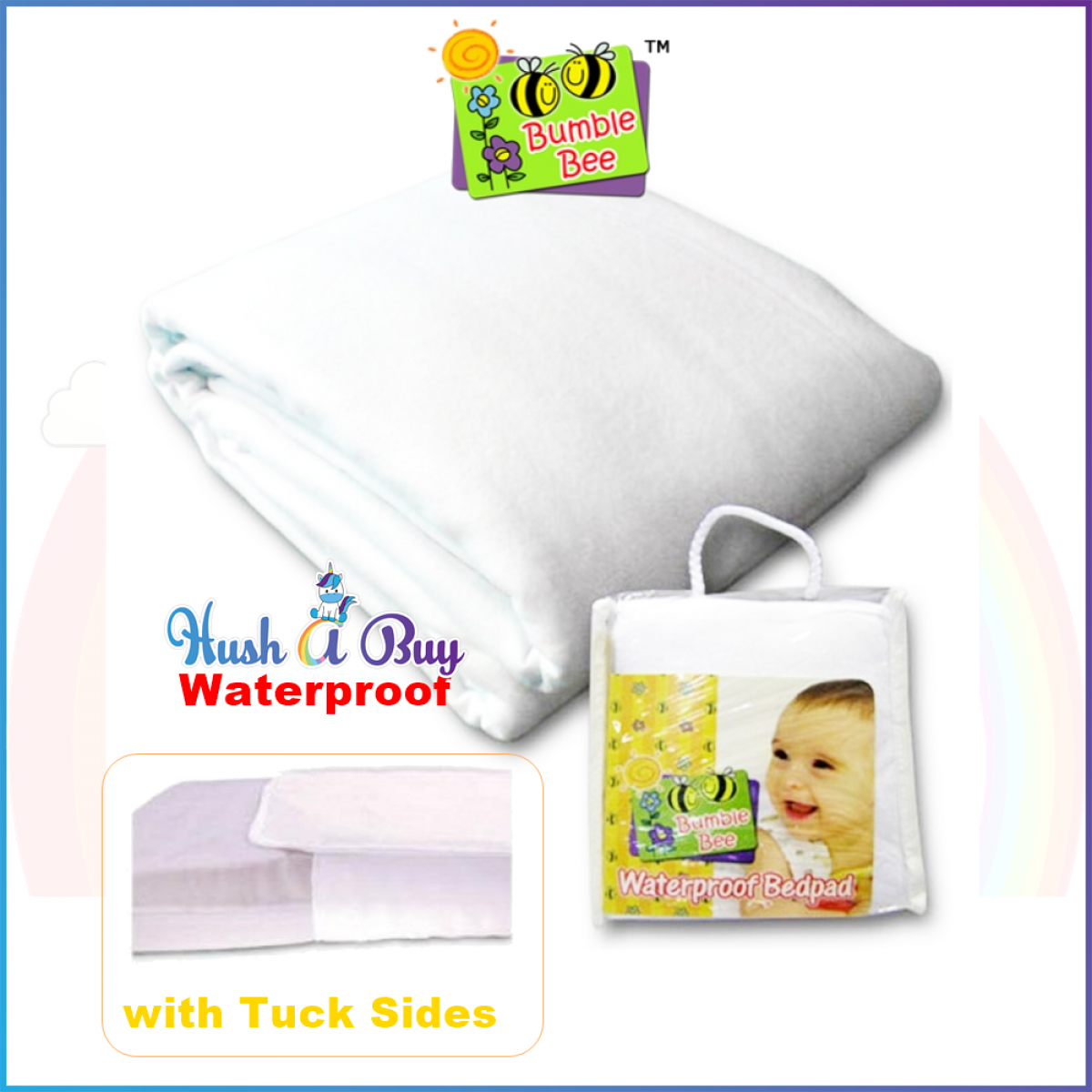 Bumble Bee Waterproof Bedpad with Tuck Sides