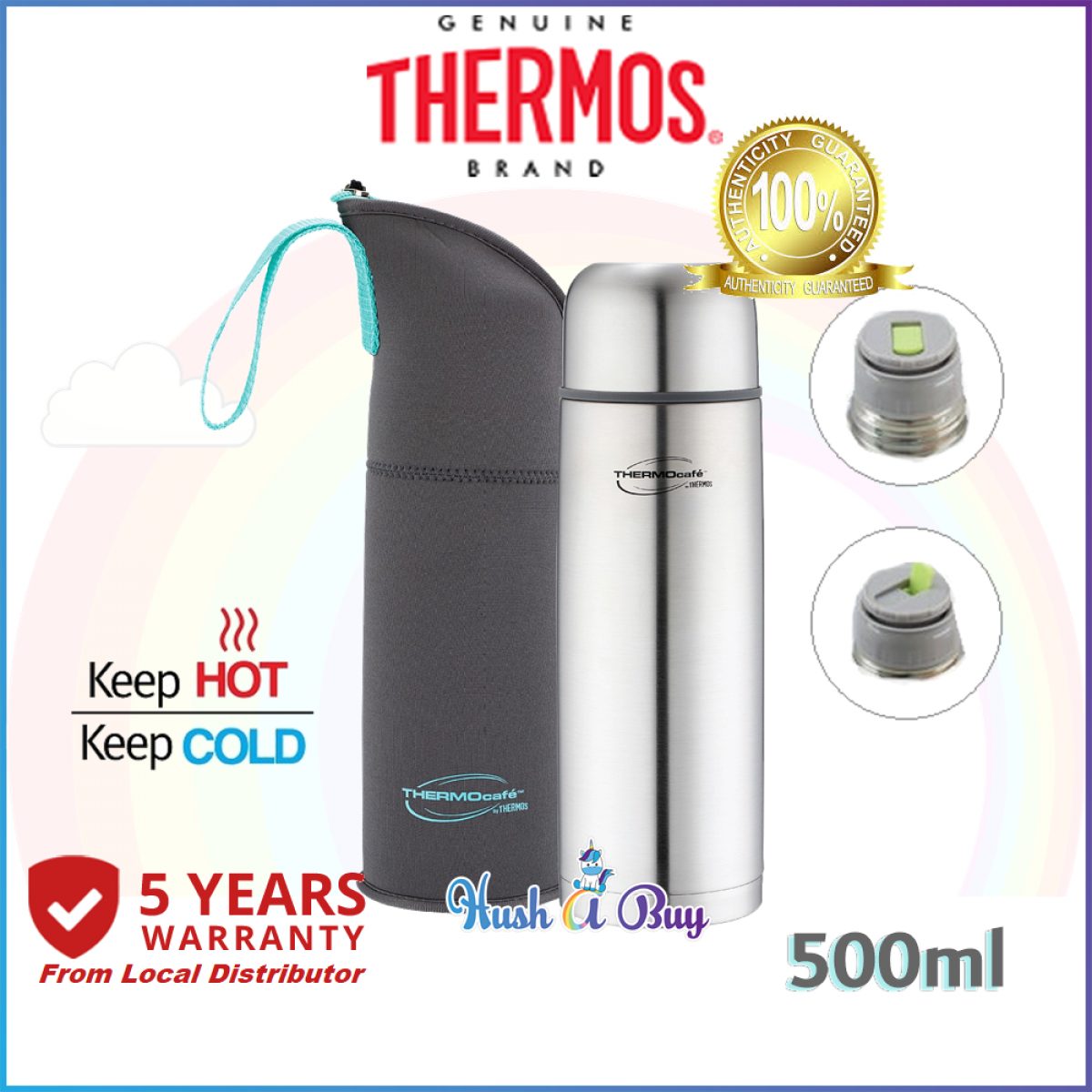 Thermos Thermocafe Stainless Steel Vacuum Insulated Tumbler with Pouch