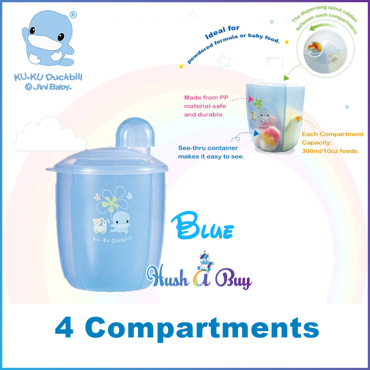 Kuku Duckbill Multipuurpose Milk Powder Dispenser or Container
