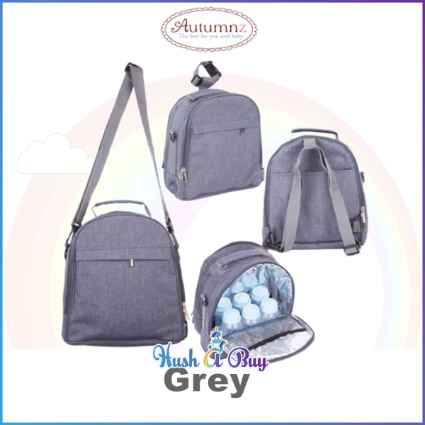 Autumnz Classique Cooler Breastfeeding Bag - Dual Compartment with Insulation Layer