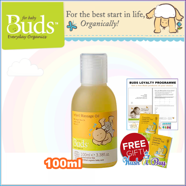 Buds BEO Infant Massage Oil 100ml (Expiry: May/2020)
