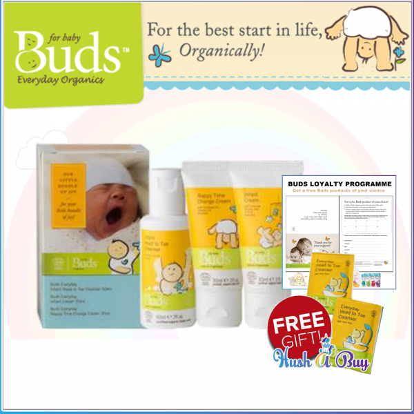 Buds BeO Purest Starter In Life for Organic Start Kit (Set of 3)