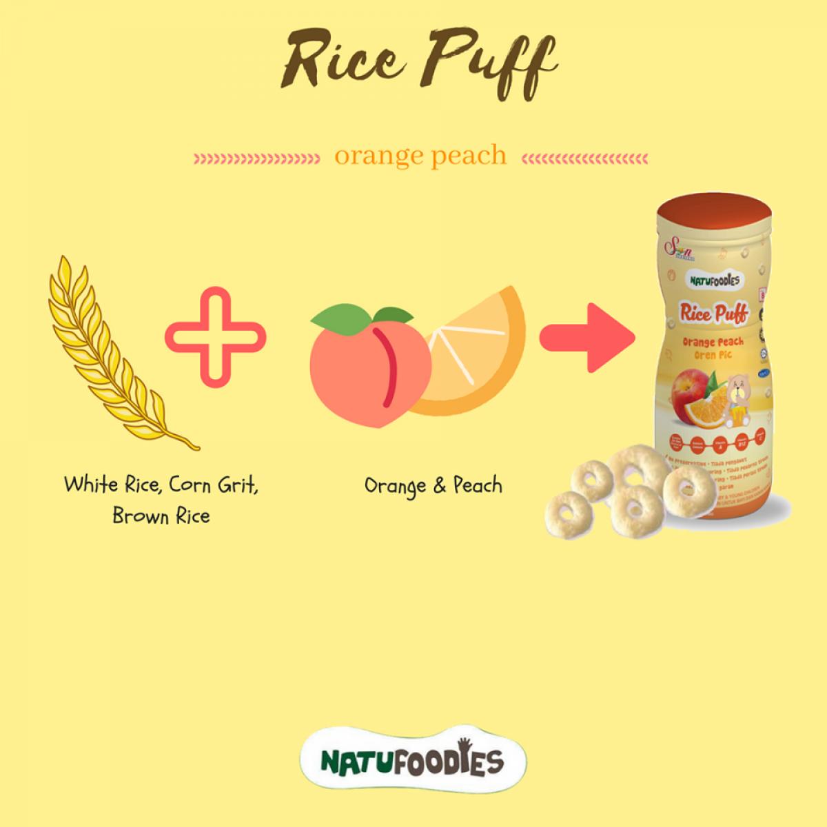 2 Bottles - Natufoodies Rice Puff (60g) - Halal