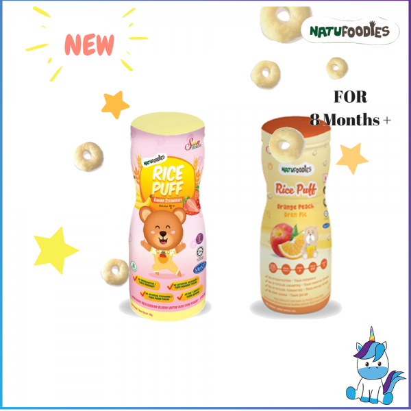 2 Bottles - Natufoodies Rice Puff (60g) - Halal