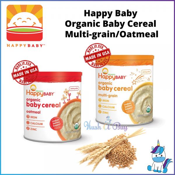 Happy Baby Organic Baby Cereal - Multi-Grain / Oatmeal  198gm