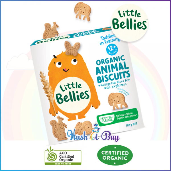 Little Bellies Organic Animal Biscuits100gm (Expiry Date: 02/2020)