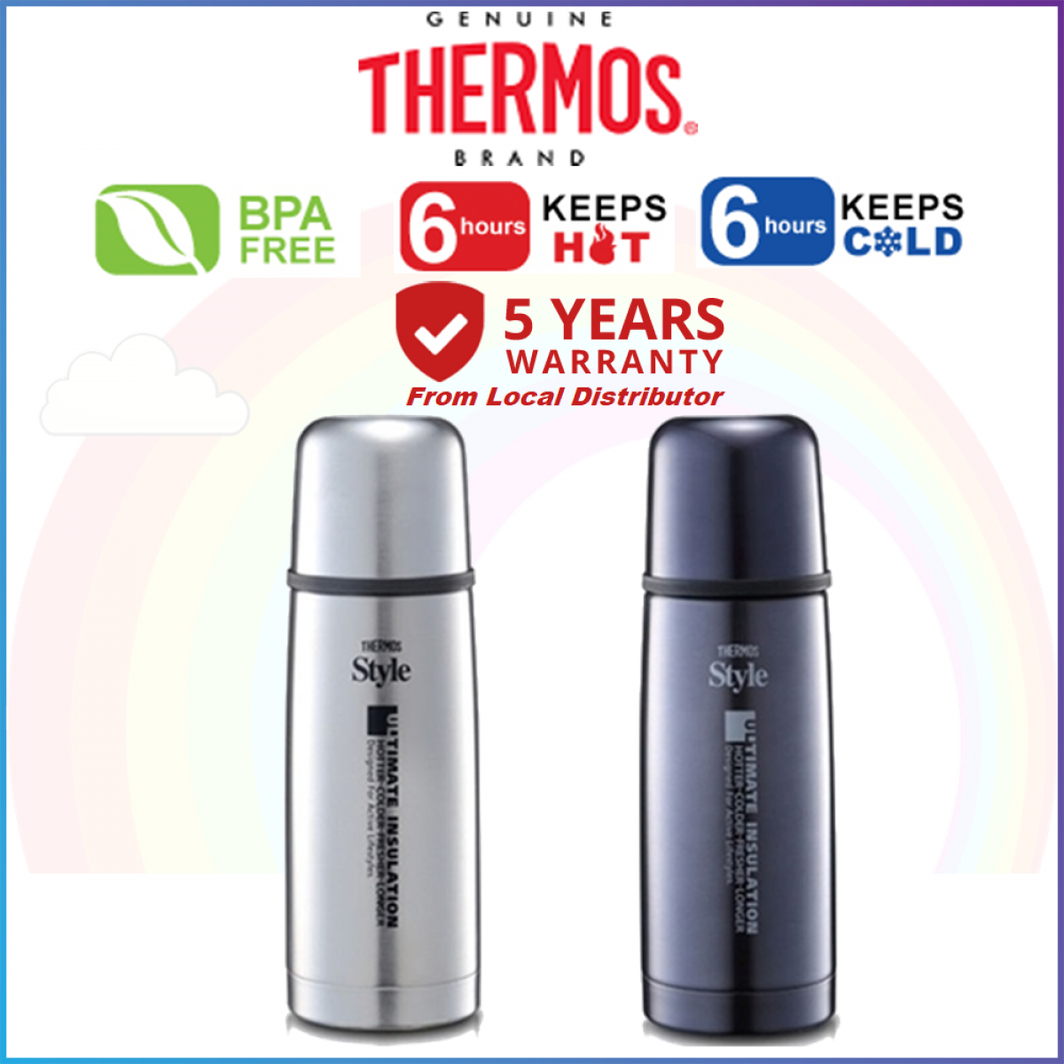 Thermos FDX Series Flip Top Flask 350ml - 5 Years Warranty