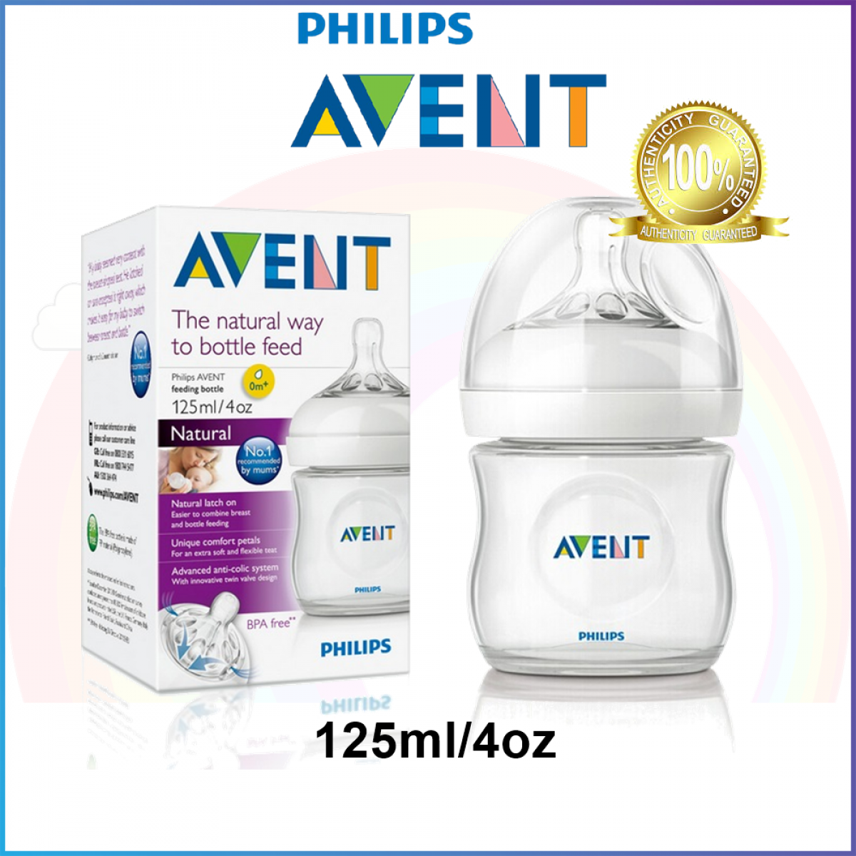 Avent Natural Baby Bottle 4oz / 125ml