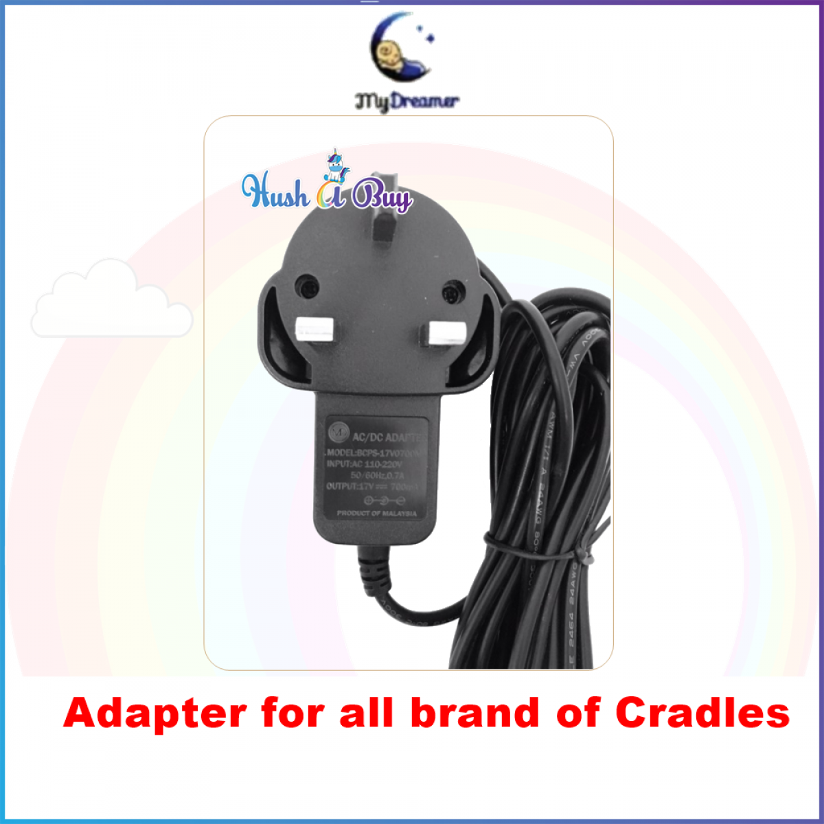 MYDREAMER Electronic Baby Cradle / Buaian Bayi Automatik - 1 Year Warranty