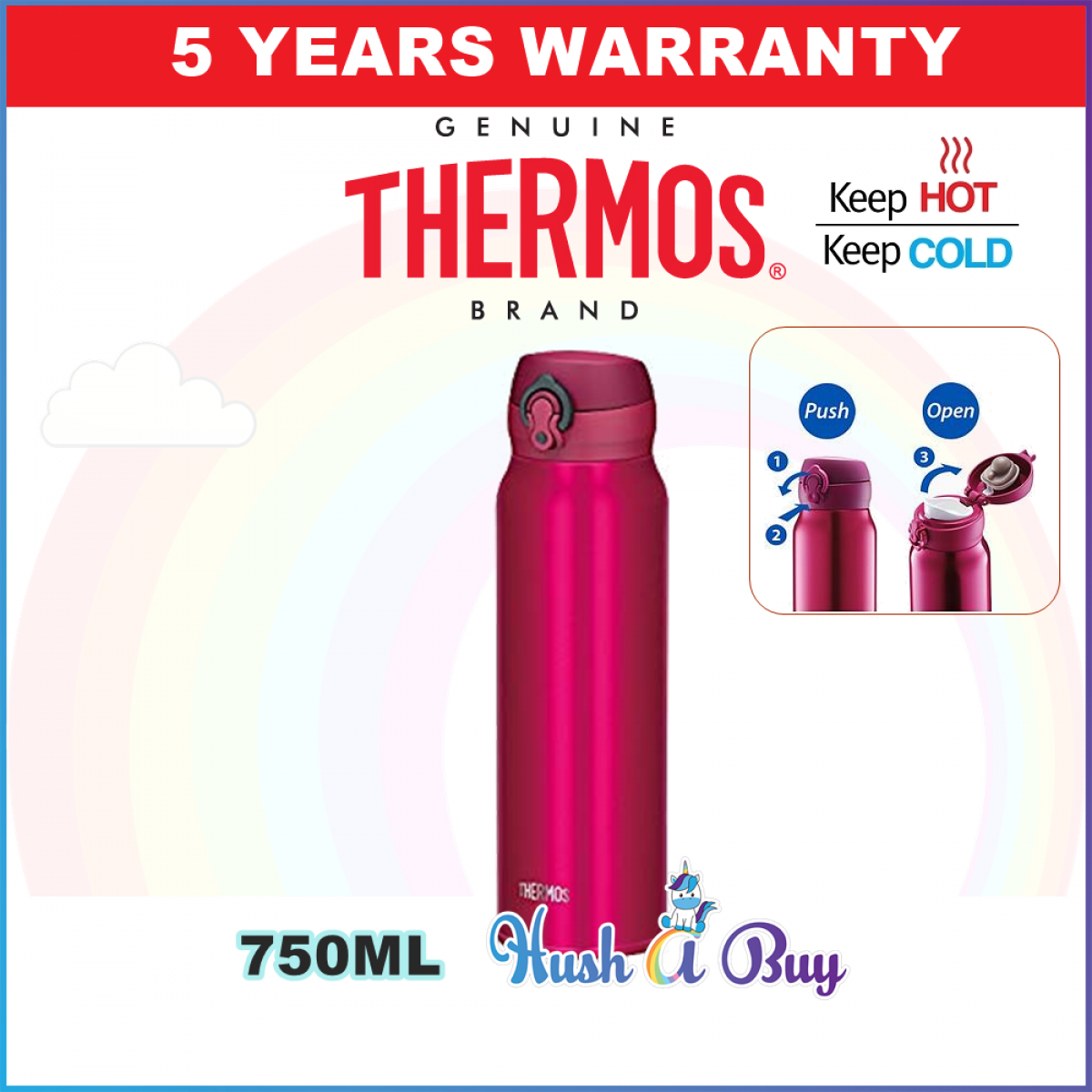 Thermos Ultra Light Executive Hot & Cold Flask 750ml