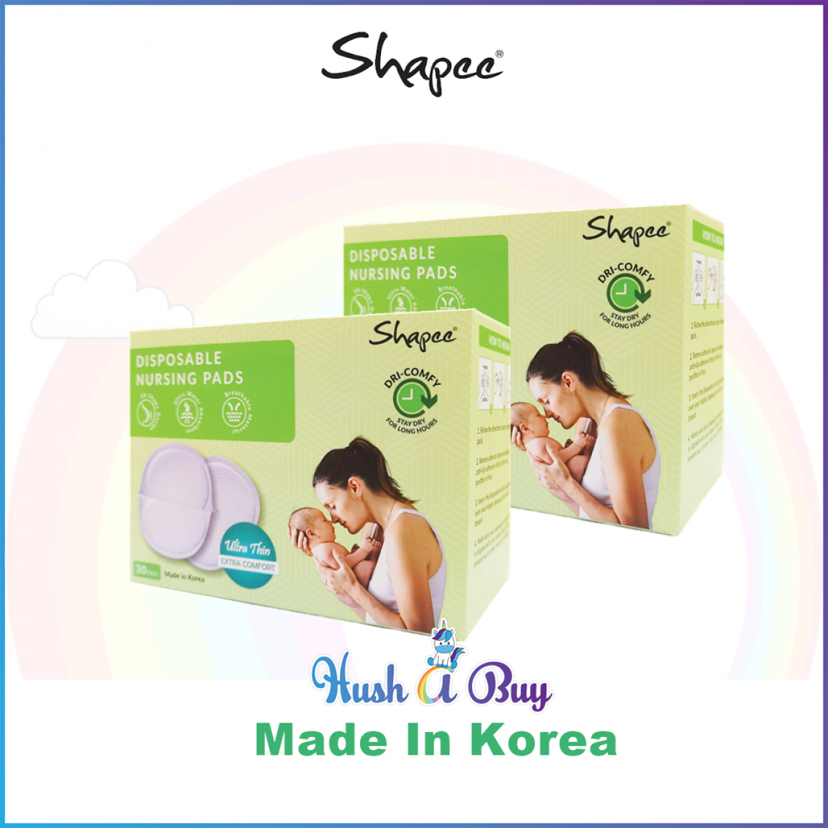 Shapee Disposable Nursing Pad - Gel Type - Made In Korea (30pcs)