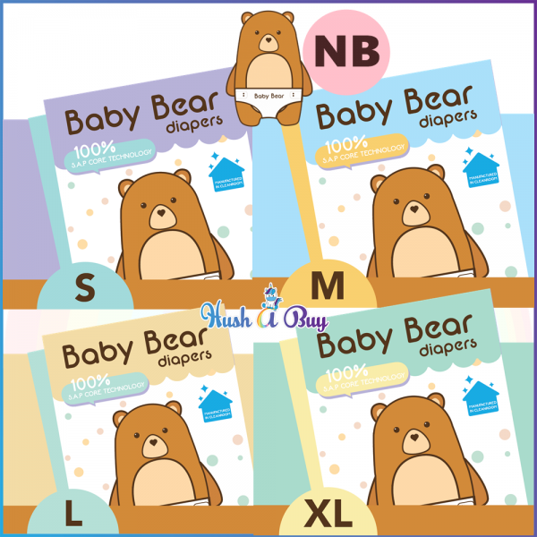 BABY BEAR Diapers Tape Diapers NB, S, M, L, XL