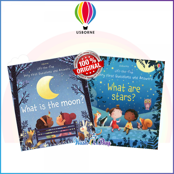 Usborne Life-the-Flap Set of 2: What are Stars? What is the Moon?