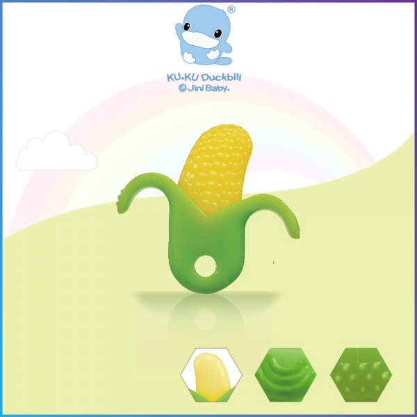 Kuku Duckbill Baby Teether - Corn - 10M+