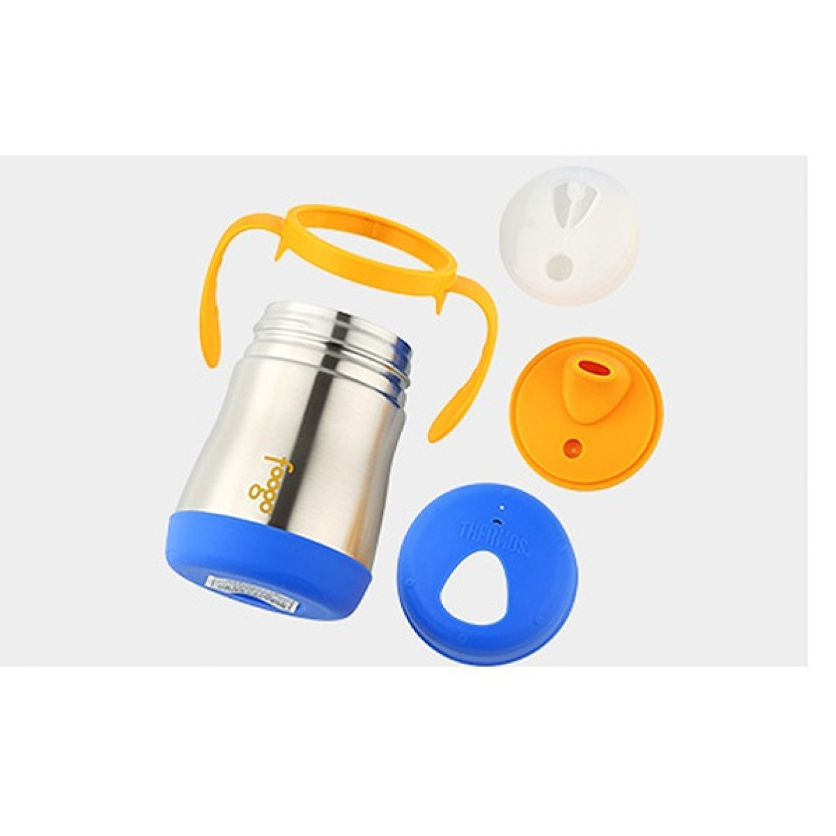 COMBO SET OF 2- Authentic Thermos Foogo Food Jar 295ml + Thermos Foogo 0.21L Hygienic Soft Spout Sippy Cup with Handle