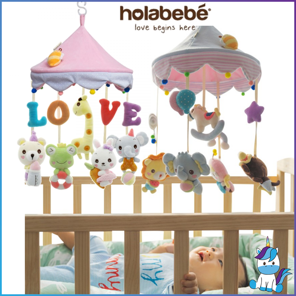 Holabebe Musical Mobile (1 Year Warranty)