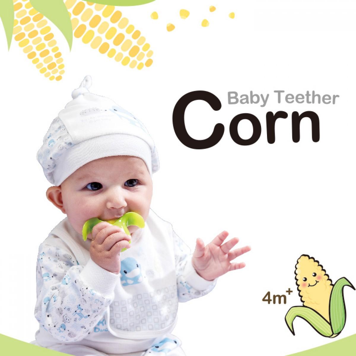 Kuku Duckbill Baby Teether - Corn - 10M+