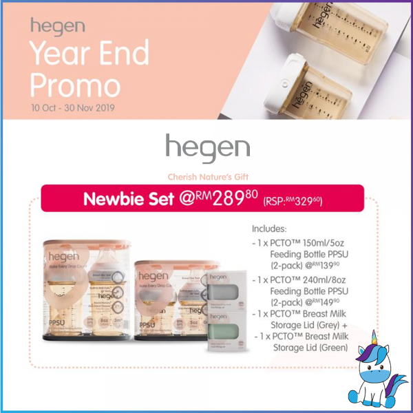 Hegen PCTO Newbie Set Promotion - 150ml+240ml+Lids