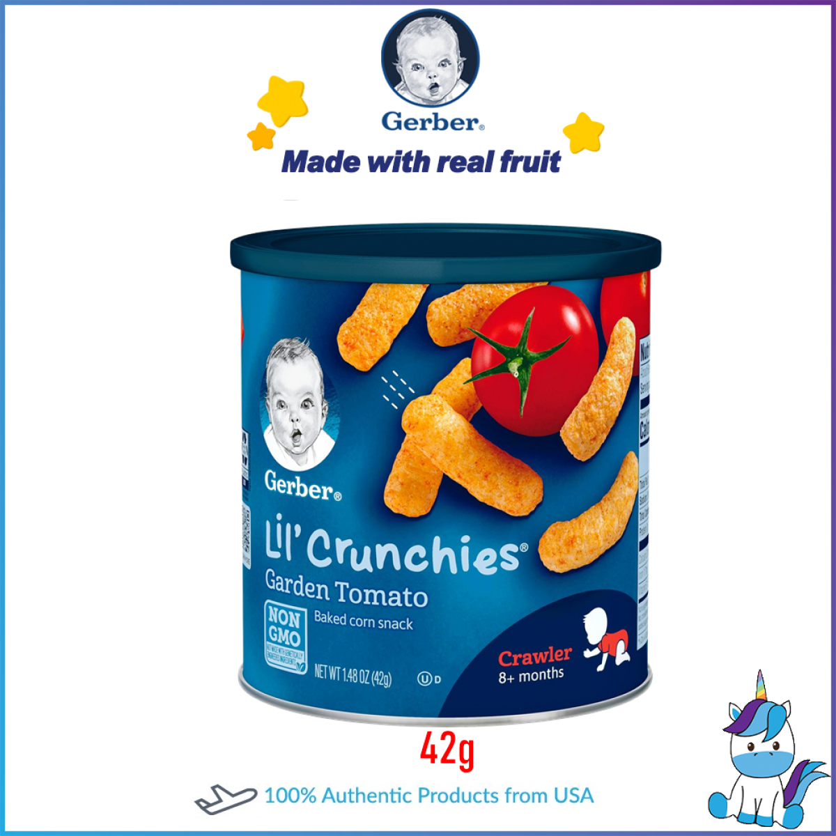 Gerber Lil Crunche Organic Brocolli and Garden Tomatoes - Pack of 2