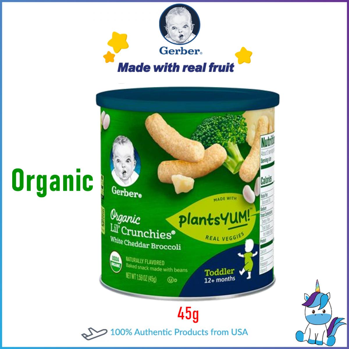 Gerber Lil Crunche Organic /  Non-Organic Crunch Crunchies Baby Snacks /  Teether Wheels 42g