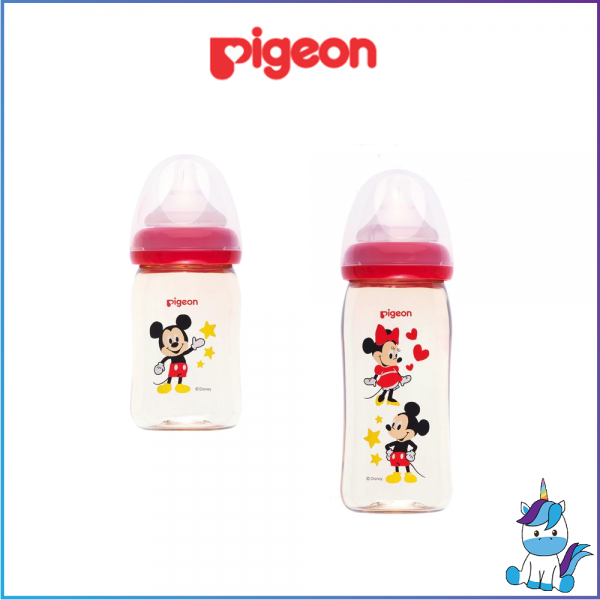 Pigeon Softouch PPSU  Wide Neck Single 160ml / 240ml - Mickey - Made in Thailand