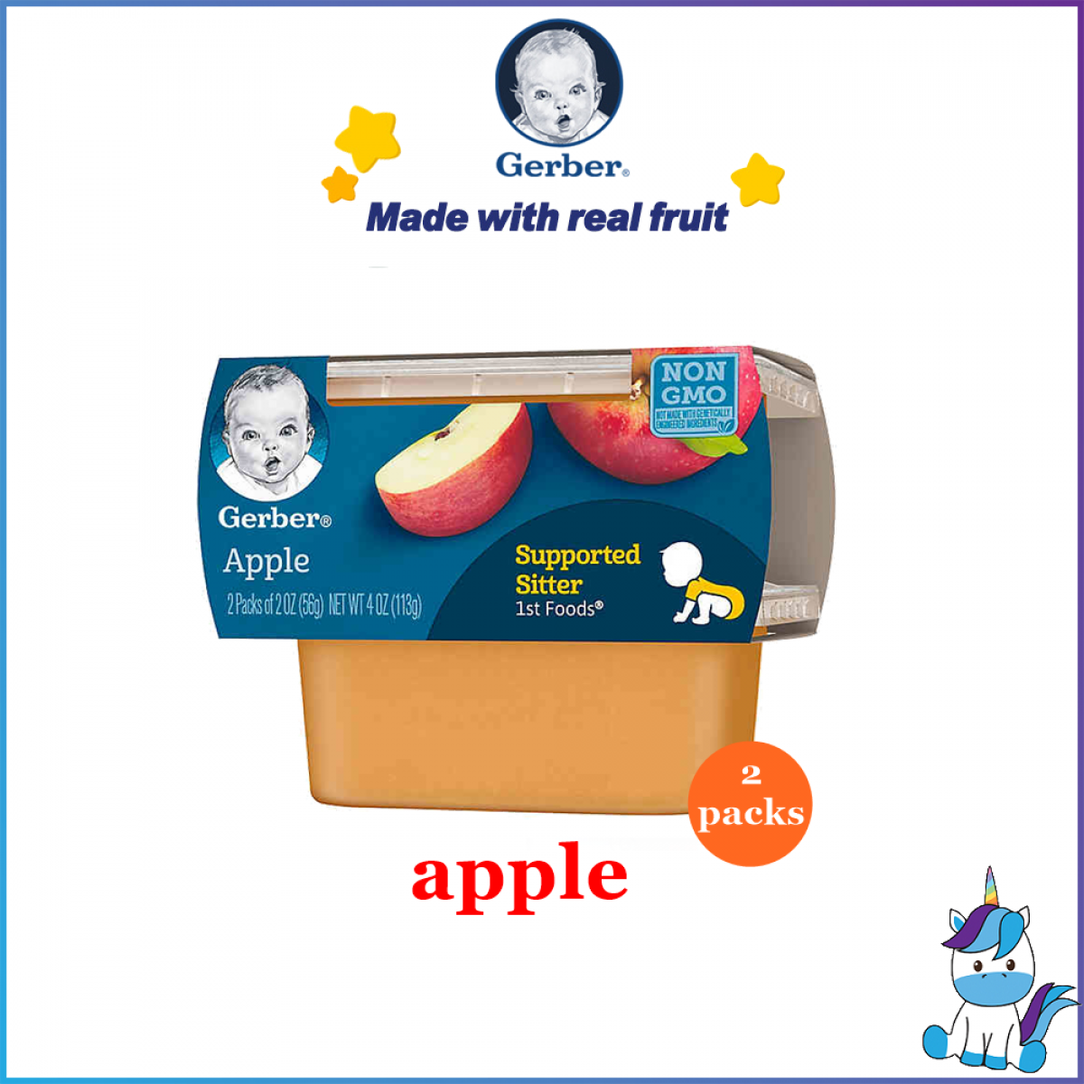 Gerber 1st Foods Baby Food  Puree  (2-Pack) 56g/pack