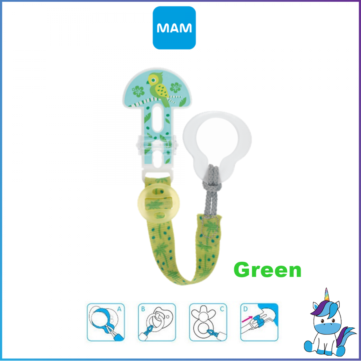MAM Clip It! Baby Pacifier Holder