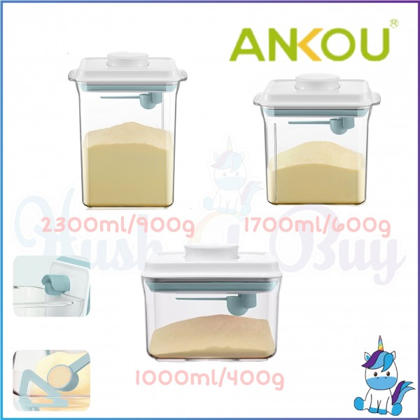Ankou Rectangle Air Tight Container W/Scraper Milk Powder Container