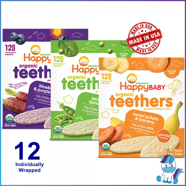 (Gluten Free) Happy Baby Organic Baby Teether Wafers (48g)