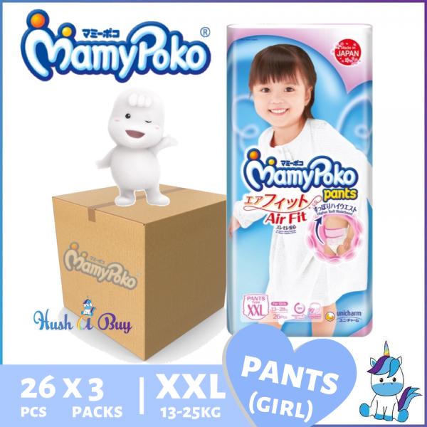 1 CTN (3 Packs) - MamyPoko Airfit Pants Air Fit Girl XXL26 - Size XXL (78PCS)