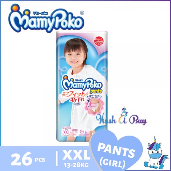 MamyPoko Airfit Pants Air Fit (GIRL) XXL26 - Size XXL - 26pcs / Kids Pants XXL30 - Size XXL - 30pcs