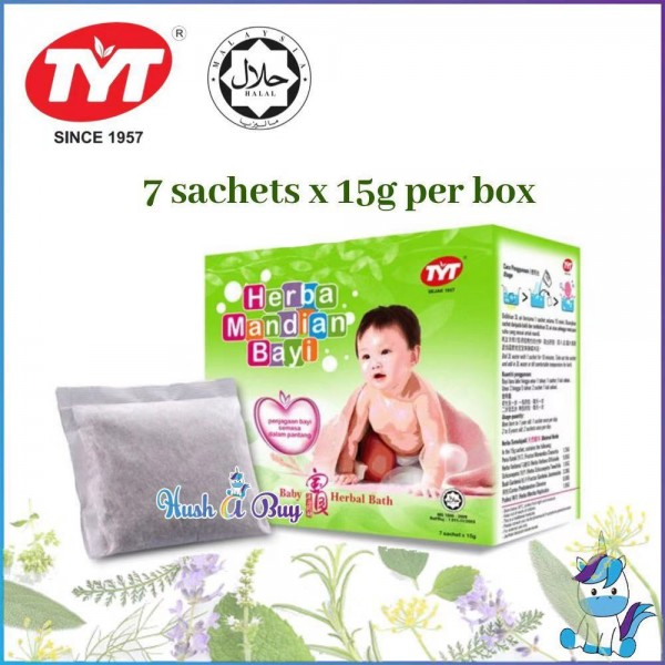 TYT Baby Herbal Bath 7x15g