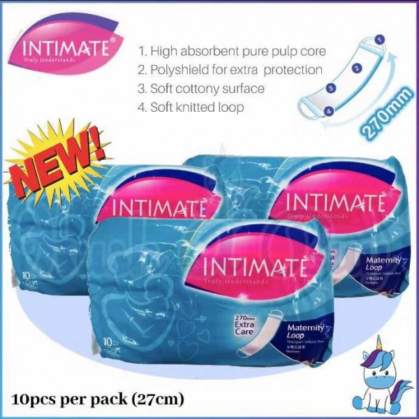 Intimate Maternity Loop Pad 10's (27cm)