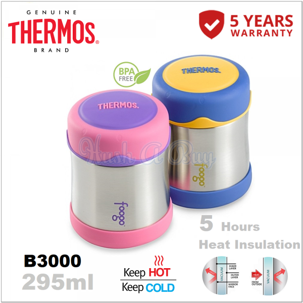 Authentic Thermos Foogo Food Jar 295ml - 5 Years Warranty