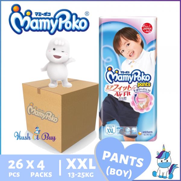 1 CTN (3 packs) of MamyPoko Airfit Pants Air Fit Boy  XXL26(1CTN-78pcs) OR KidsPants XXL30(1CTN-90pcs)- Size XXL
