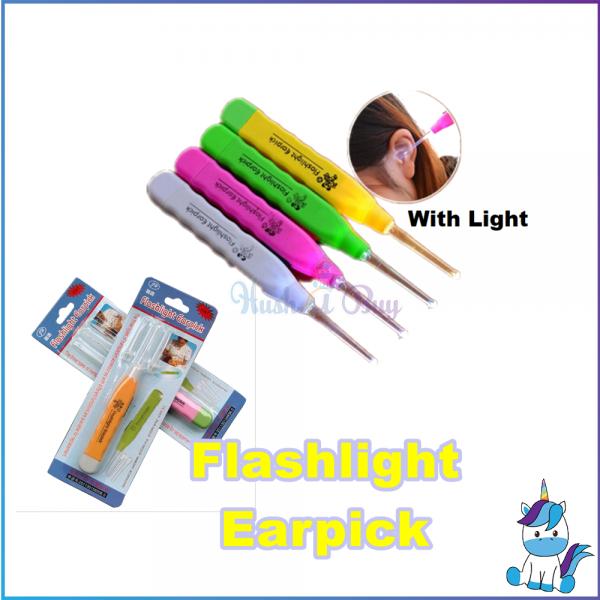 Flashlight Earpick Safety LED Light Ear Cleaner Earwax Remover Earpick  3-in-1