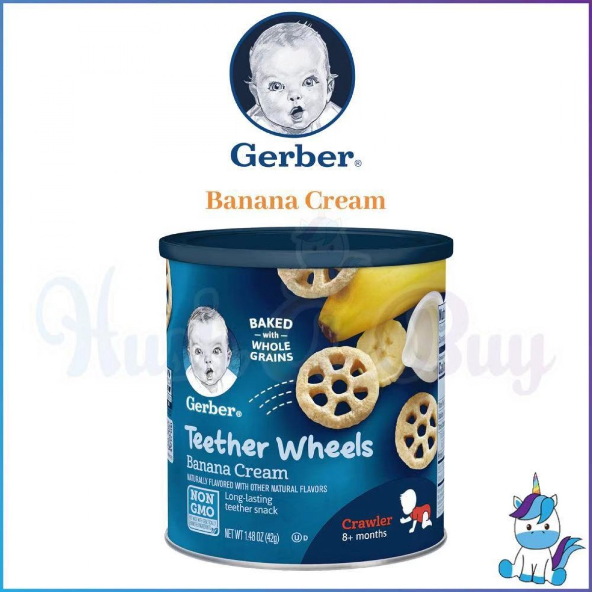 Gerber Teether Wheels 8+ months - Banana Cream