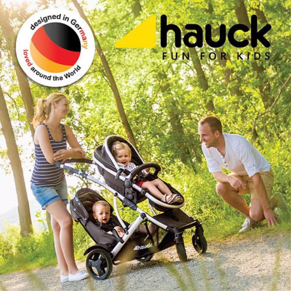 Hauck Duett 2 Stroller With Raincover - Uni Black