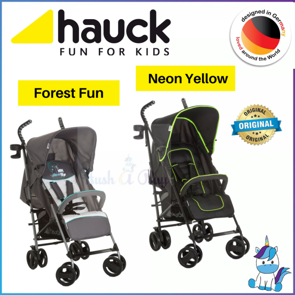 Hauck Speed Plus S Stroller- Neon Yellow / Forest Fun