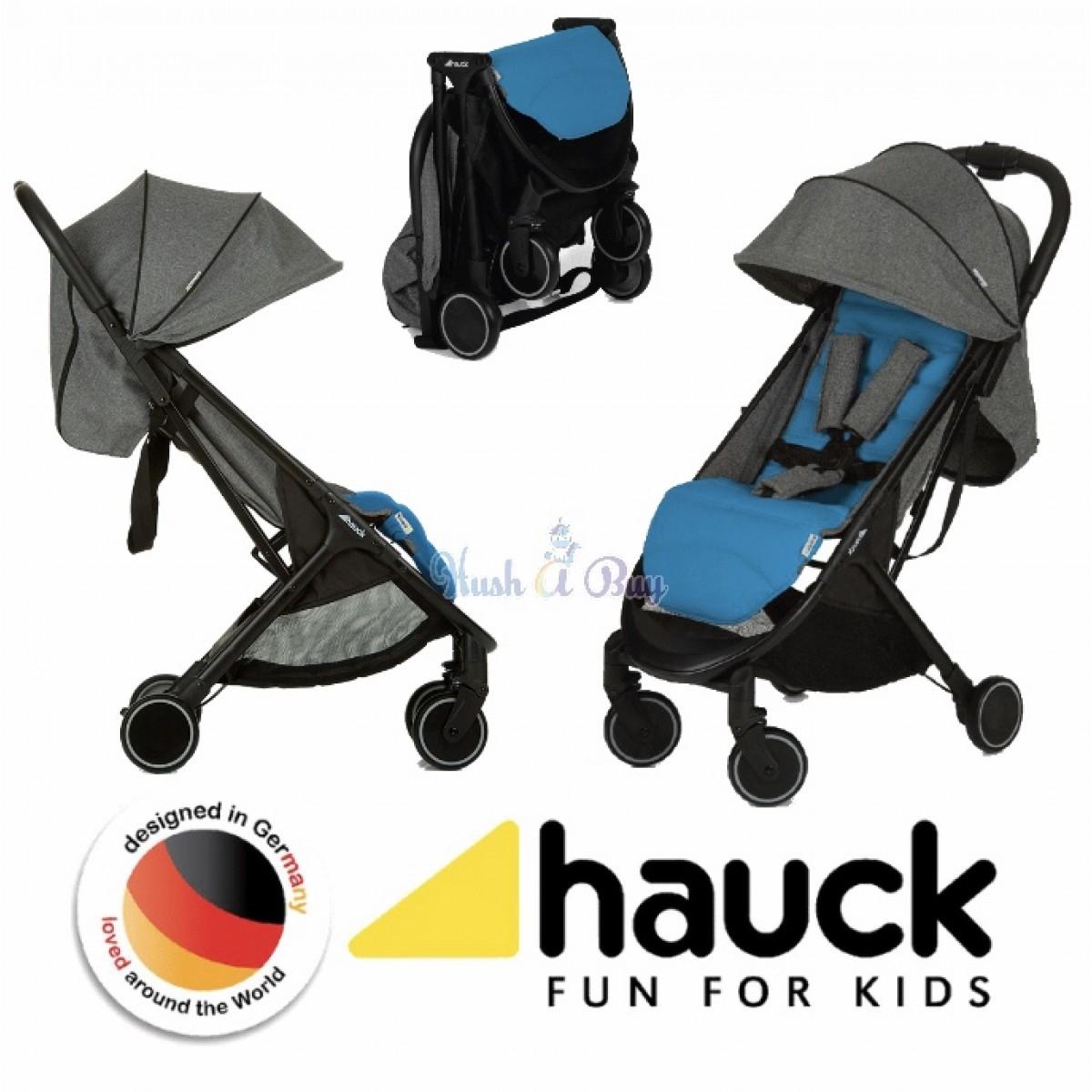 Hauck Swift Stroller from Newborn - Melange Grey (1 Year Warranty)