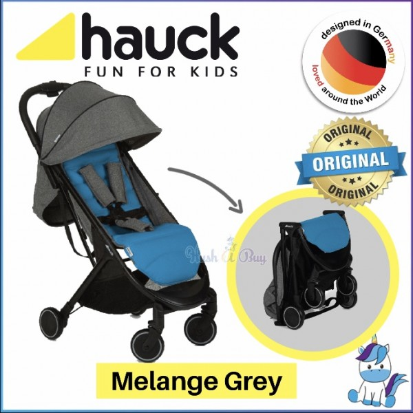 Hauck Swift Stroller from Newborn - Melange Grey (1 Year Warranty)