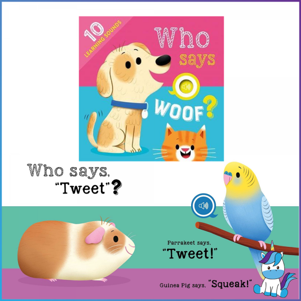 Who Says Woof? Sound book for Kids By Igloo Books