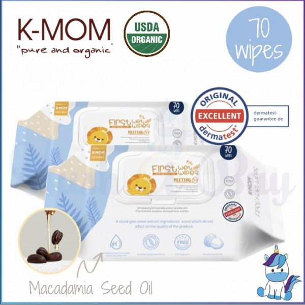 K-MOM Organic First Series Wet Wipes Meeting - 70pcs