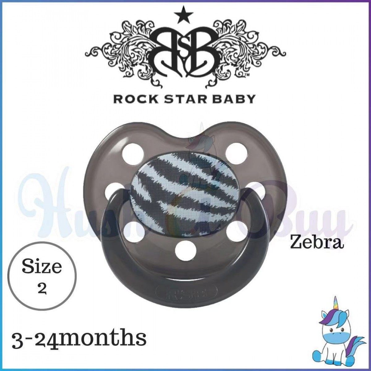 Rock Star Baby Silicone Pacifier Ortho (3-24 months)