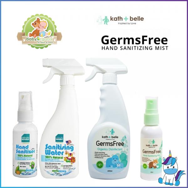 READY STOCK Baby Organix Kath & Belle Naturally Kinder Hand Sanitizer