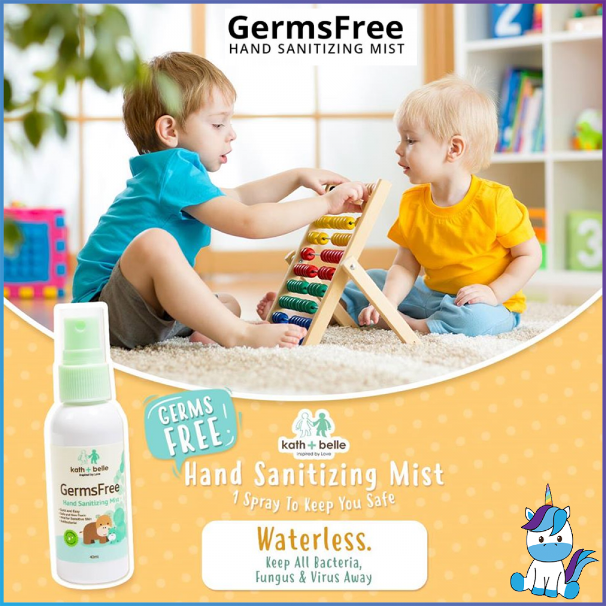 FREE SHIPPING Baby Organix Kath & Bell Naturally Kinder Hand Sanitizer