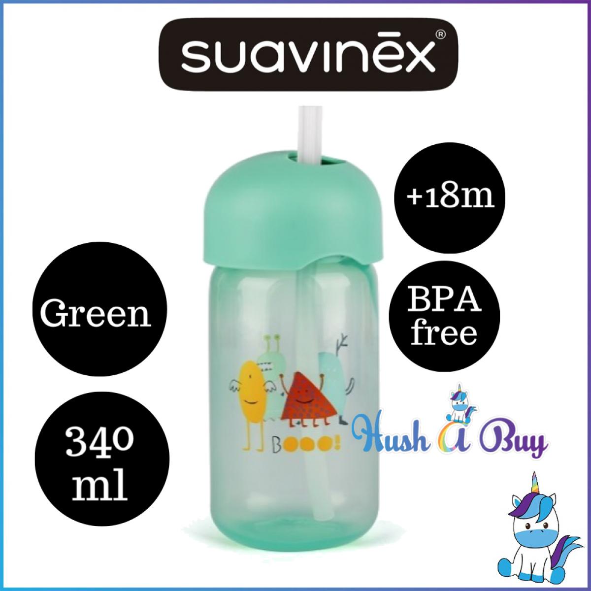 Suavinex Straw Trainer Cup +18m 340ml-BLUE/GREEN/PINK